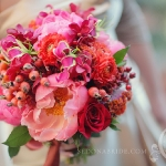 Spring / Early Summer:  fuchsia, pink, magenta and red orange