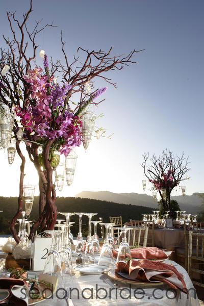 Sedona wedding centerpieces planners