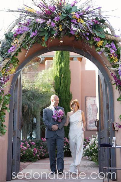 Courtyard Entry Arch, Sedona AZ. Image by SedonaBride.com
