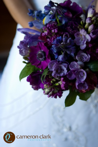 Spring bouquet of mixed purples, Image by Cameron + Kelly Studios