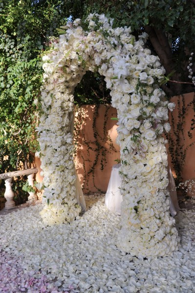 Floral Arch, Royal Palms Resort, Alegria Garden, Scottsdale AZ., Image by Phyllis Lane Photography