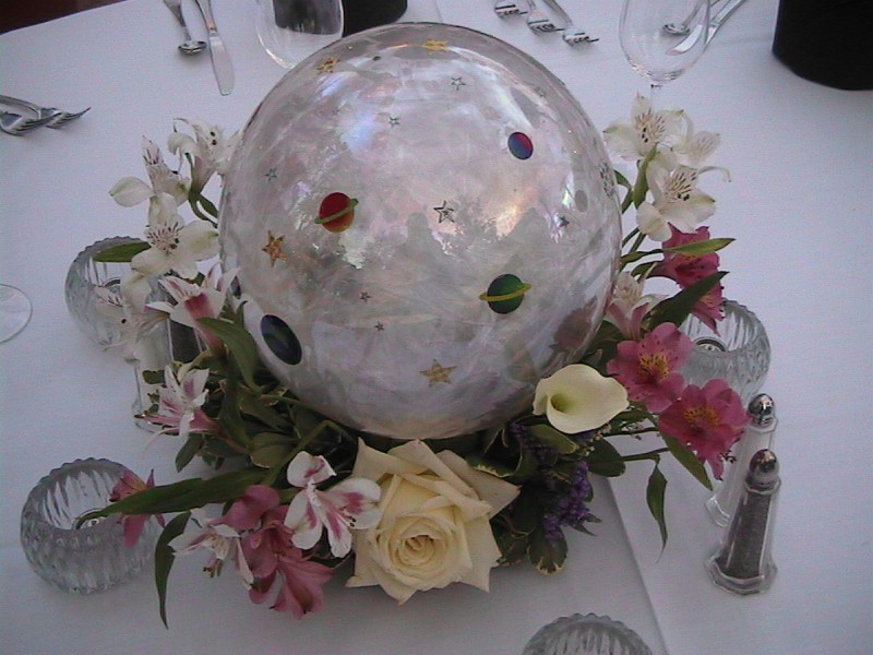 Celestial Gazing Ball Centerpiece