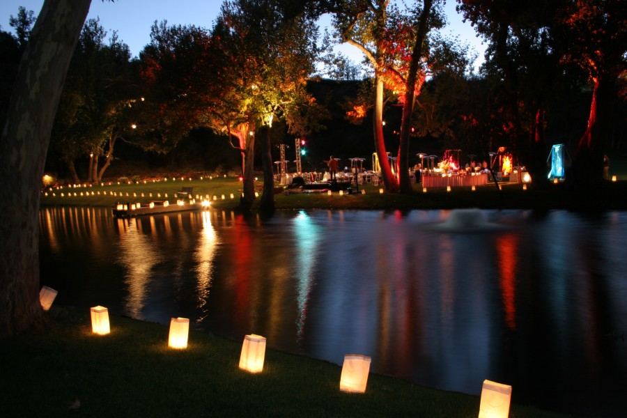 Lighting and Luminaries Reflected in Lake