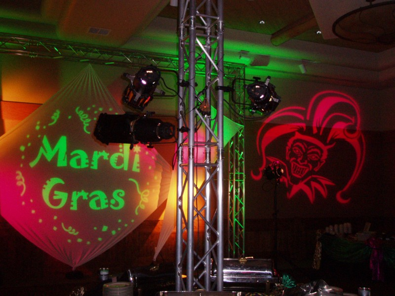 Mardi Gras Gobo Projections