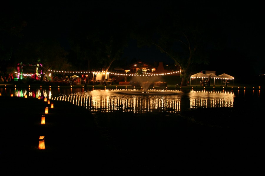 Lighting Reflections In Lake
