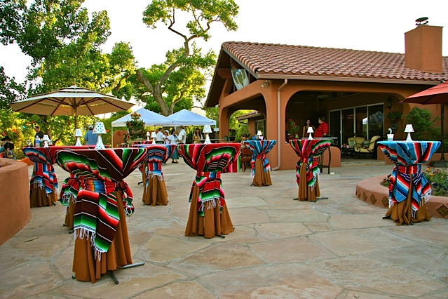 Mexican Fiesta Theme, Cocktail Tables, Enchantment Resort, Sedona AZ.