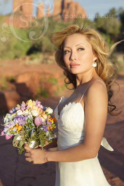 Wedding at Red Rock Crossing, Sedona AZ., Image by SedonaBride.com