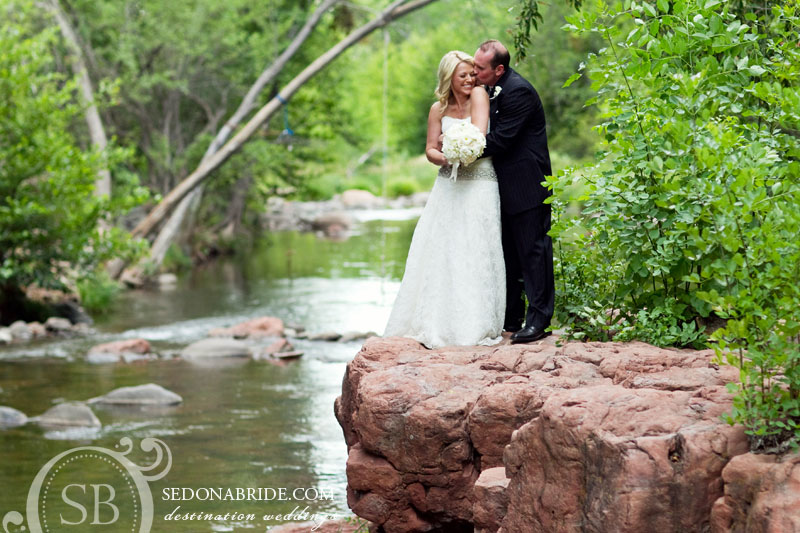 Kristie and Tom Marry Creekside At L'Auberge