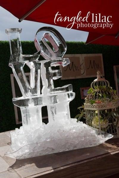 Sedona Wedding Ice Sculpture