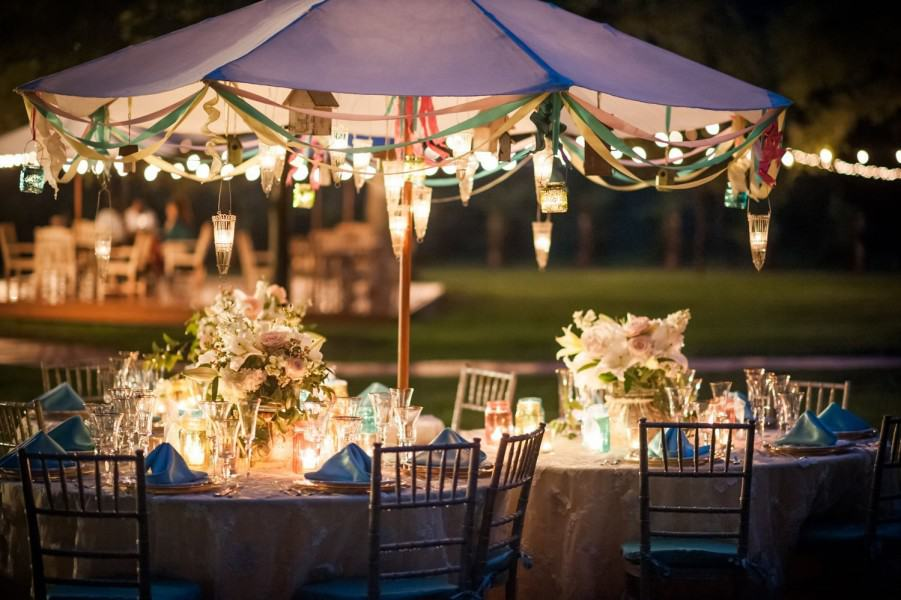 Dining table cluster at a wedding in Sedona.