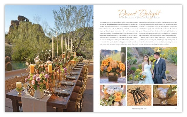 Show Stoppers featured in Arizona's Finest Wedding Sites and Services Magazine